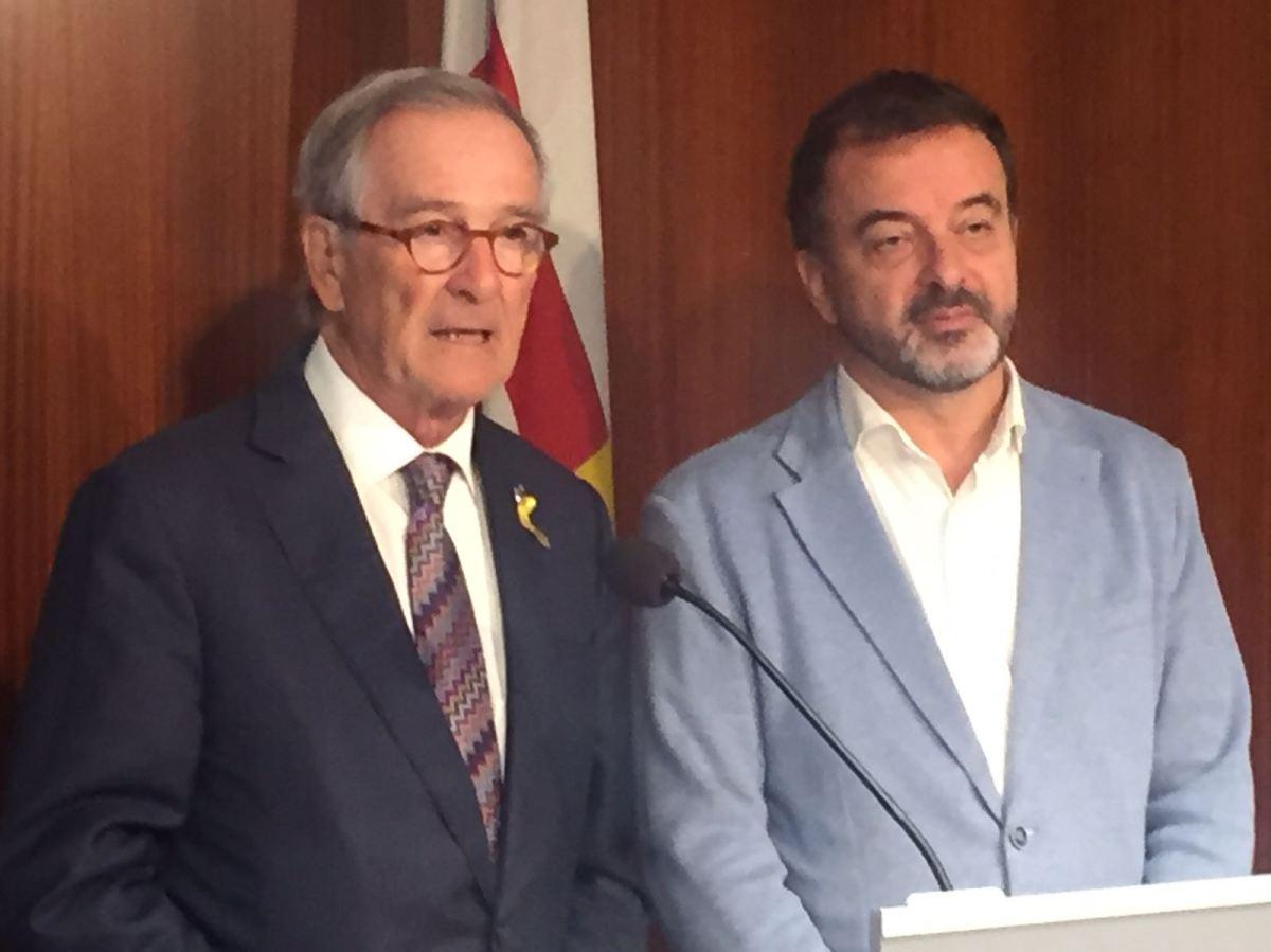 Xavier Trias i Alfred Bosch demanen la celebració d'un ple extraordinari de l'Ajuntament de Barcelona en suport a les institucions catalanes i de rebuig a l'aplicació de l'article155